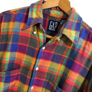 ギャップ(GAP)の◆GAP◆チェック柄 メンズネルシャツ 厚手 M(シャツ)