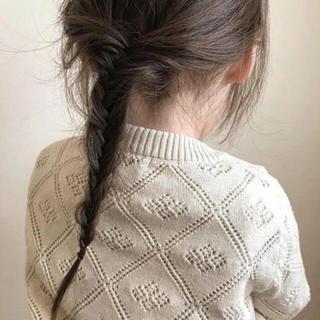 韓国子供服 レース編み 透かし編み カーディガン