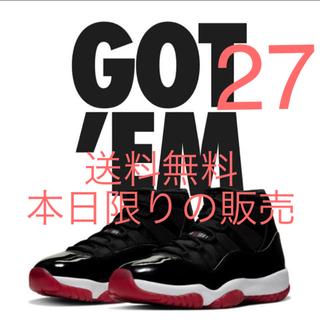 NIKE - air Jordan 11 BRED 27cm  aj11