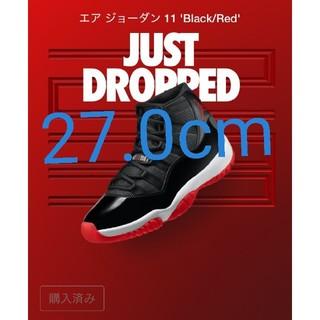 NIKE - エアジョーダン11 エア ジョーダン 11 レトロ BRED  ブラック/ホワイ