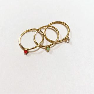 カラーストーン ピンキーリング(リング(指輪))
