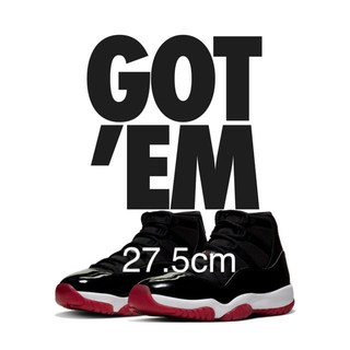 ナイキ(NIKE)の【先行販売】27.5 Nike Air Jordan 11 BRED(スニーカー)