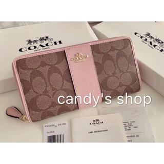 COACH - セール!コーチ 新品 かわいい 桜ピンク 長財布