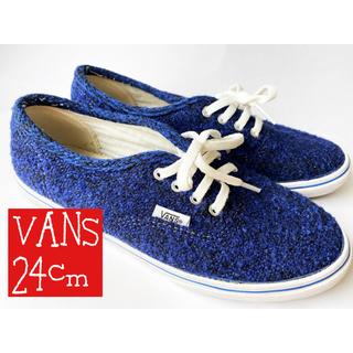 ヴァンズ(VANS)のVANS スニーカー 24cm 青 ブルー(スニーカー)