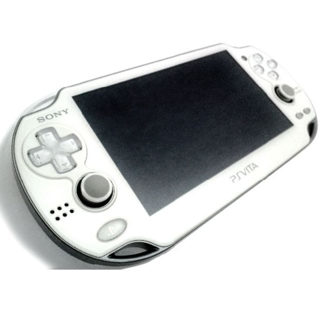 PlayStation Vita(プレイステーションヴィータ)の【準美品】PlayStation®Vita クリスタル・ホワイト ZA02 エンタメ/ホビーのゲームソフト/ゲーム機本体(携帯用ゲーム機本体)の商品写真