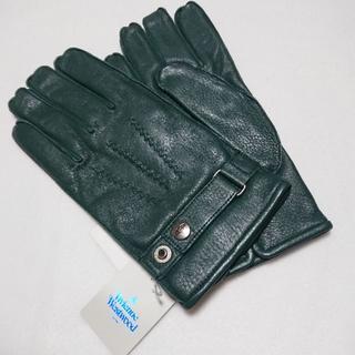 ヴィヴィアンウエストウッド(Vivienne Westwood)の新品 ヴィヴィアンウエストウッド 手袋 レザー グリーン 羊革(手袋)