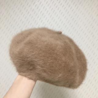 ふわふわ ブラウンベレー帽