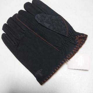 ヴィヴィアンウエストウッド(Vivienne Westwood)の新品 ヴィヴィアンウエストウッド 手袋 レザー 羊革 ブラック(手袋)