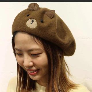 rivet & surge - rivet&surge くま刺繍 ベレー帽