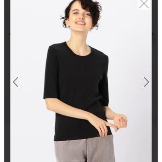トゥモローランド(TOMORROWLAND)のトゥモローランド GALERIE VIE  tシャツ 黒 ファインコットン(Tシャツ(半袖/袖なし))