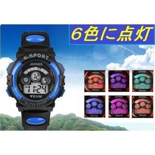 新品★6色に光る LED 腕時計★キッズから大人まで★