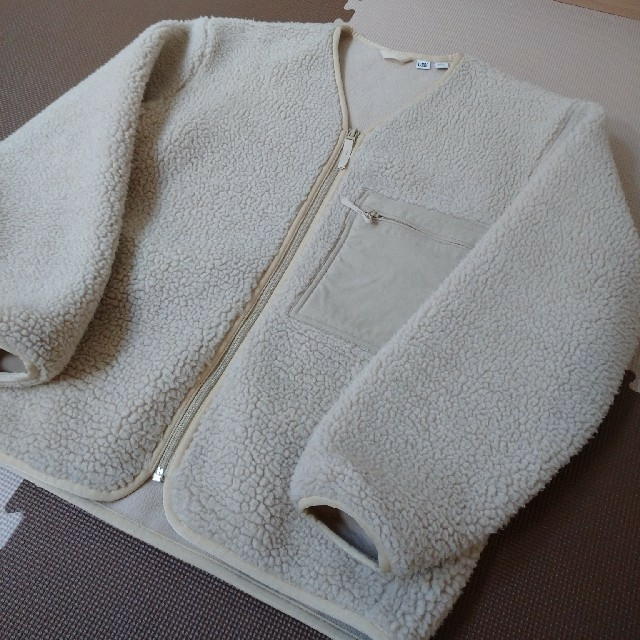 UNIQLO(ユニクロ)のUNIQLO ユニクロユー ボアフリース ブルゾン M メンズのジャケット/アウター(ノーカラージャケット)の商品写真