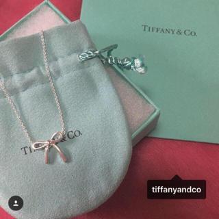 Tiffany & Co. - Tiffany 正規 リボンネックレス 🎗