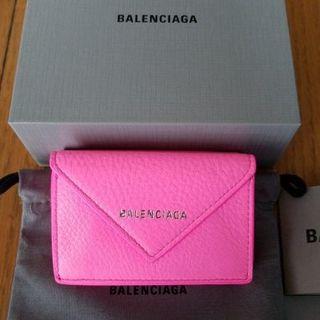 Balenciaga - BALENCIAGA バレンシアガ コンパクト レザー 3つ折り 財布