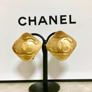 CHANEL - 正規品 シャネル イヤリング ゴールド ココマーク ひし形 ロゴ 金 スクエア