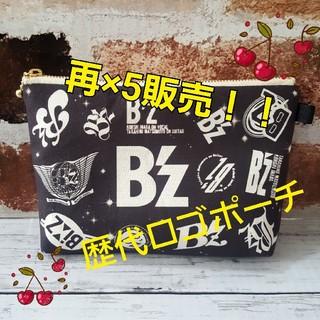 再×5販売♥ハンドメイド♥大人気☆B'z☆EMBLEM歴代ロゴマチありポーチ
