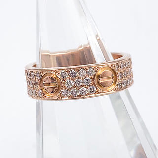 Cartier - 【仕上済】カルティエ ラブリング PG 9号 #9 ダイヤ 指輪 リング