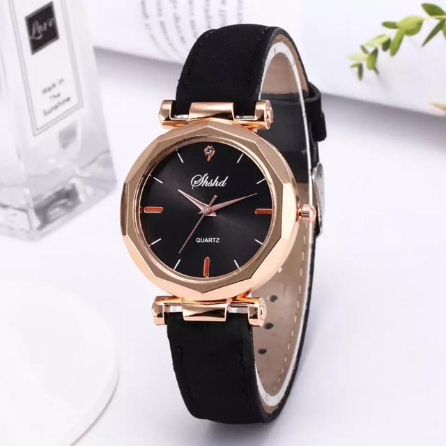 腕時計 レディース Duobla 黒 ブラック即日発送の通販