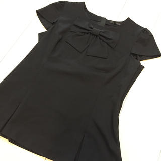 TO BE CHIC - 美品 TO BE CHIC リボン カットソー