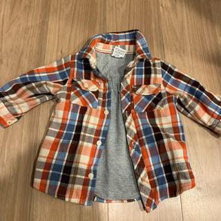 ギャップ(GAP)のベビーgapチェックシャツ☆ロンパス70セット(ジャケット/コート)