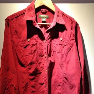 エディーバウアー(Eddie Bauer)のEddie Bauer 赤コットンシャツ(シャツ/ブラウス(長袖/七分))