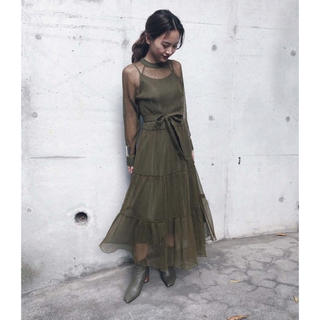 Ameri VINTAGE - ameri vintage  SHIRRING SHEER DRESS