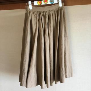 イエナスローブ(IENA SLOBE)のCHOU CHOUベージュフレアスカート(ロングスカート)