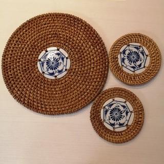 ベトナム雑貨 鍋敷き コースター (テーブル用品)