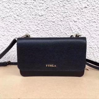 Furla - 新品フルラ未使用ブラック正規品ラウンドファスナー長財布ショルダー