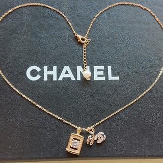 CHANEL - ♥️レア♥️CHANEL ネックレス シャネル 香水 ラインストーン ココマーク