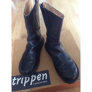 trippen - trippen MIDBOOT-BUF black 38トリッペンミッドブーツ