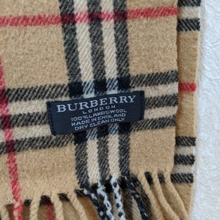 BURBERRY - バーバリー マフラー ラムウール 100%