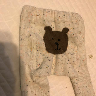 babyGAP - くまさんタイツ 70〜80 リブ編み