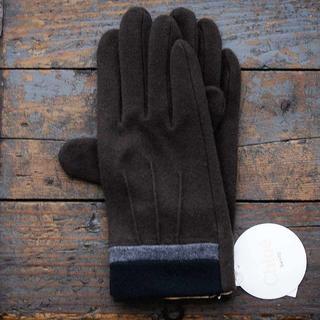 クロエ(Chloe)の新品 カラーブロック BR カシミヤ混 クロエ GANTS 手袋 SALE(手袋)