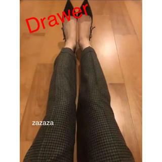 Drawer - Drawerドゥロワー  チェックウールスソダブルパンツ