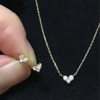 ete - ete K18 ダイヤモンド ピアス ネックレス セット