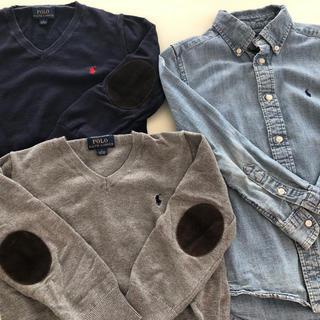 Ralph Lauren - ラルフローレンセット販売 シャツ&Vネックセーター 115〜120センチ