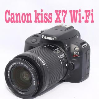 Canon - ❤️スマホに転送出来るWi-Fi SD付き❤️キャノン kiss X7❤️