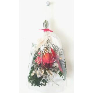 Christmas mini swag(rose noel)(ドライフラワー)