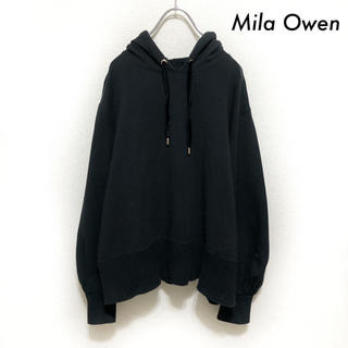 Mila Owen - Mila Owen ミラオーウェン★長袖パーカー スウェット ブラック 黒