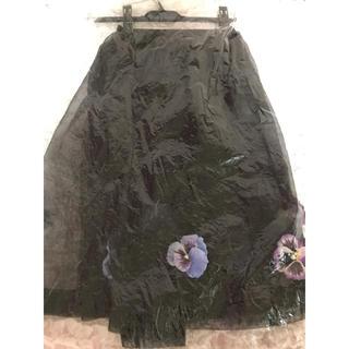 ハニーミーハニー(Honey mi Honey)のハニーミーハニー オーガンジーパンジースカート 新品未使用タグ付(ひざ丈スカート)