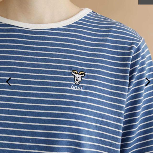 merlot(メルロー)のmerlot ボーダーTシャツ レディースのトップス(Tシャツ(半袖/袖なし))の商品写真