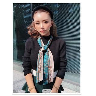 エイミーイストワール(eimy istoire)のスカーフ付きペプラムニットプルオーバー   (ニット/セーター)