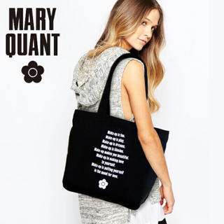 MARY QUANT - マリークワント MARY QUANT バッグ トートバッグ ブラック マリクワ