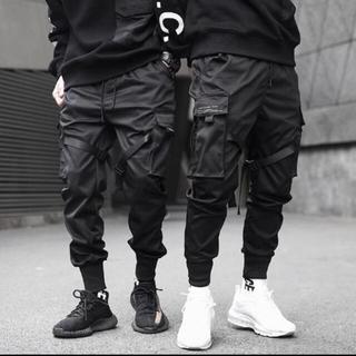 日本未入荷 頑固ファッション ブラック ジョガー パンツ L