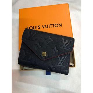 LOUIS VUITTON - LOUIS VUITTON ゾエ ネイビー 三つ折り財布