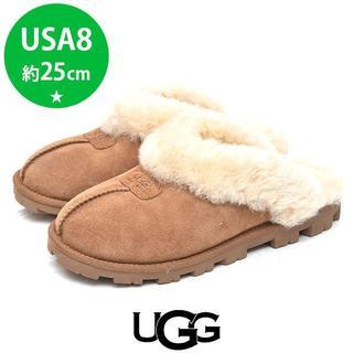 UGG - ほぼ新品❤️アグ ユニセックス ムートン スリッパ サンダル USA8(約25
