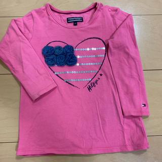 トミーヒルフィガー(TOMMY HILFIGER)の【最終価格】トミーヒルフィガー ピンクロンT スパンコール 80cm(Tシャツ)