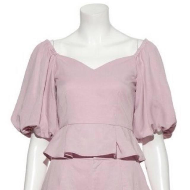 snidel(スナイデル)のSNIDEL ボリュームスリーブリネンブラウス ピンク レディースのトップス(シャツ/ブラウス(半袖/袖なし))の商品写真
