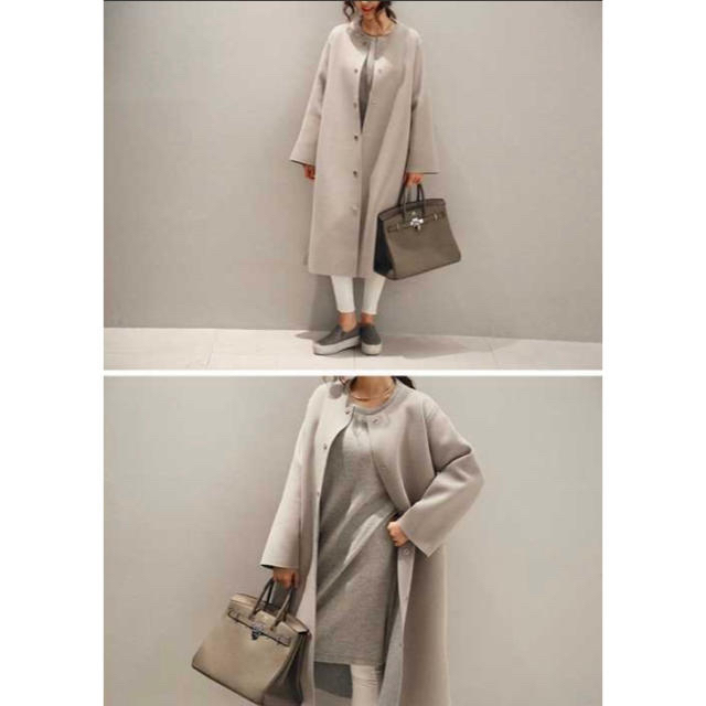 dholic(ディーホリック)のNANING9 ノーカラーコート レディースのジャケット/アウター(ロングコート)の商品写真